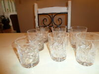 Crystal Pinwheel glasses