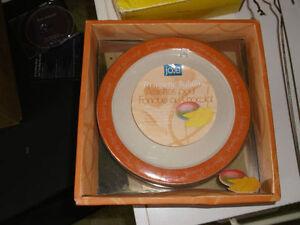Fondue Plates from  Jo!e Excellent Shape in Original Box