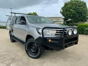 2016 Toyota Hilux GUN126R SR Double Cab Silver 6 Speed Manual Utility Garbutt Townsville City Preview