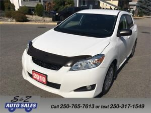 2010 Toyota Matrix XR LOW KM! LOCAL ONE OWNER!