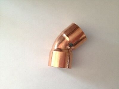 Lot Of 10 34 Copper Fitting 45 Degree Elbow Plumbing Fitting