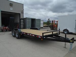 EQUIPMENT TRAILER - BUY DIRECT AND SAVE - 5 TON MODEL - 16' DECK London Ontario image 4