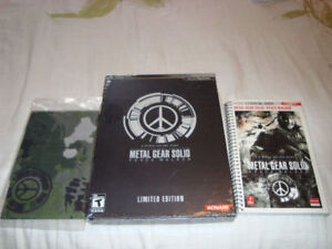 PSP METAL GEAR SOLID PEACE WALKER L.E GAME + BANDANA + GUIDE NEW