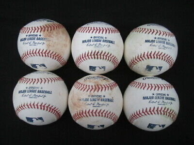 Lot of 6 Rawlings Official Major League Baseballs MLB Manfred 1/2 Dozen