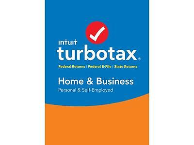 Intuit TurboTax Home & Business 2016 Fed + State + Efile Tax Software