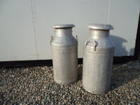 2 Creamery Cans in Good Condition