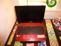 PACKARD BELL EASYNOTE TK37 LAPTOP IN RED WITH WINDOWS 10 + 15.6 H/D SCREEN
