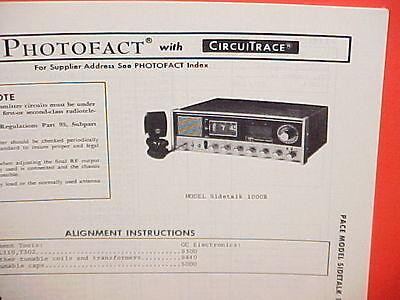 Used, 1976 PACE CB RADIO SERVICE SHOP MANUAL MODEL SIDETALK 1000B for sale  Shipping to United Kingdom