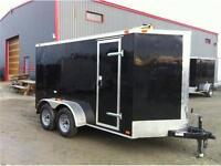 WINTER CLEARANCE**  NEW 2016 6x12+2' VNOSE ENCLOSED TRAILER