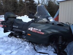 2002 Arctic Cat 660 4 stroke and 2 sled trailer
