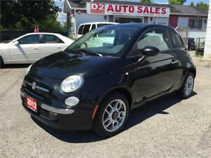 2012 Fiat 500 Clean Carproof/Beautiful Color Combo/Certified