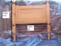 SOLID pine single bed headboard