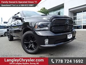2015 RAM 1500 Sport ACCIDENT FREE W/BLUETOOTH & CANOPY