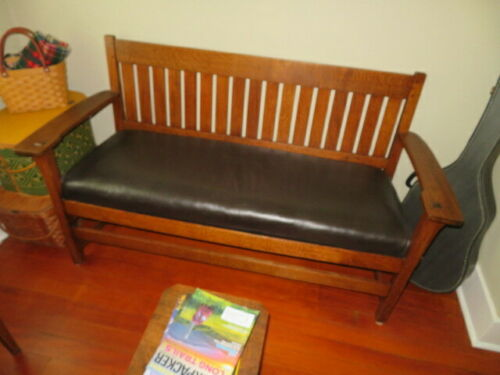 Oak Bench Arts and Crafts (Kingcraft)