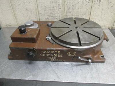 Sip Societe Genevoise Model Pd-2h Electric Power Rotary Table 12 115v 1 Ph