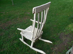 Antique Crackled Rocking Chair