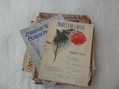Vintage Sheet Music Lot of 80 1901-1960's. Used. Fair to Good condition.