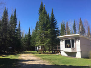 PRIVATE WINTERIZED unit for sale on end lot at Tall Timber Lodge