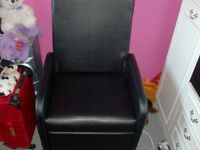black pc chair 2 foot square extended leg room 1 year old perfect condition £50 no offers need gone