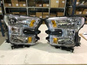 2015 - 2017 Ford F150 XLT Oem Headlight Assembly  Pair