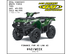 2016 BRUTE FORCE 750i REDUCED TO $8,999 NO CHARGE 1ST SERVICE