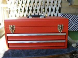 Portable Tool Chest Box Storage Cabinet 2 Drawers