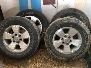 4 - 265/65/R17 Tires on Toyota Rims for Sale.