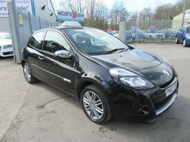 Renault Clio 1.1 DYNAMIQUE TOMTOM 16V 3d 75 BHP service history (black) 2012
