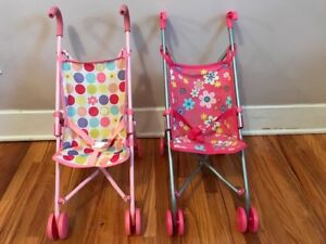 Baby Doll Strollers -  Set of 2