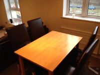 Free dining set, wardrobe, chest of drawers, 3 seat sofa