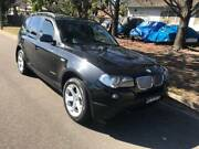 2009 BMW X3 AUTOMATIC TURBO DIESEL xDRIVE 20d E83 BLACK 5D WAGON Smithfield Parramatta Area Preview