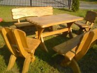 NEW- Wood furniture for home and garden