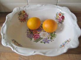 Large Quality Cornishware Fruit Bowl By Kernewek Pottery £6.00 ono