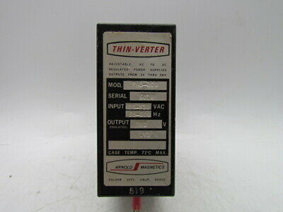 Arnold Magnetics Thin-verter Adjustable Ac To Dc Regulated Power Supply Phu-300