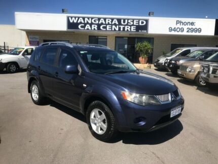 2008 Mitsubishi Outlander ZG MY08 LS Blue 6 Speed CVT Auto Sequential Wagon Wangara Wanneroo Area Preview