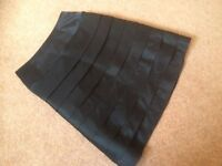 New black designer skirt size 12