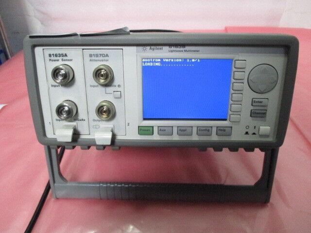 Agilent HP 8163B Lightwave Multimeter 81635A Power Sensor, 418918