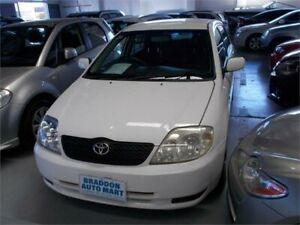 2003 Toyota Corolla ZZE122R Ascent Seca White 5 Speed Manual Hatchback Fyshwick South Canberra Preview