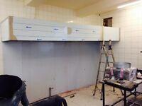 commercial kitchen ventilation canopy heavy duty restaurant chicken bakery pub bar takeaway shop