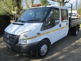 2014 Ford Transit 2.2TDCi Double cab tipper/pick up NO VAT 350 LWB 65,000 MILES