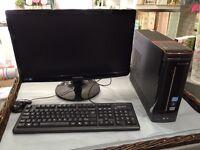 "Lenovo H330 Desktop PC with Samsung 21"" SA100 Monitor perfect for small business or student use"