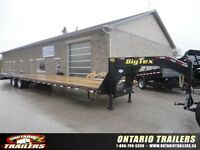 BIG TEX 22GN HD 40 FT 23500 LB GVWR TANDEM DUALLY FLATBED