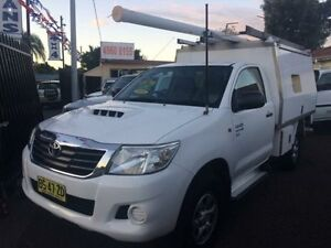 2012 Toyota Hilux KUN16R MY12 SR White 5 Speed Manual Cab Chassis Kooragang Newcastle Area Preview