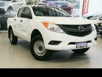 2014 Mazda BT-50 MY13 XT Hi-Rider (4x2) White 6 Speed Automatic Dual Cab Utility Rockingham Rockingham Area Preview
