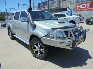 2011 Toyota Hilux KUN26R MY12 SR5 Silver 5 Speed Manual 4D Utility Holroyd Parramatta Area Preview