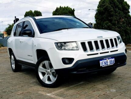2014 Jeep Compass MK MY14 Sport CVT Auto Stick White 6 Speed Constant Variable Wagon Morley Bayswater Area Preview