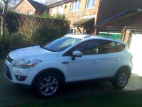 61 plate Ford Kuga 2:0 Low tax. Best color White / 6 speed / No faults drives perfect / 5o plus MPG