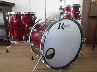 Studio quality vintage drums and cymbals