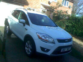 61reg Ford Kuga 2:0 Low tax 2wd Best color White / 6 speed / No faults drives perfect / 5o plus MPG