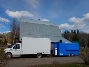 Concession Trailer with Cube Van Truck